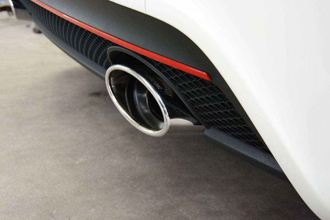 Mercedes W176 A250 4matic with Supersprint sport exhaust, 145x95mm oval tips 722015