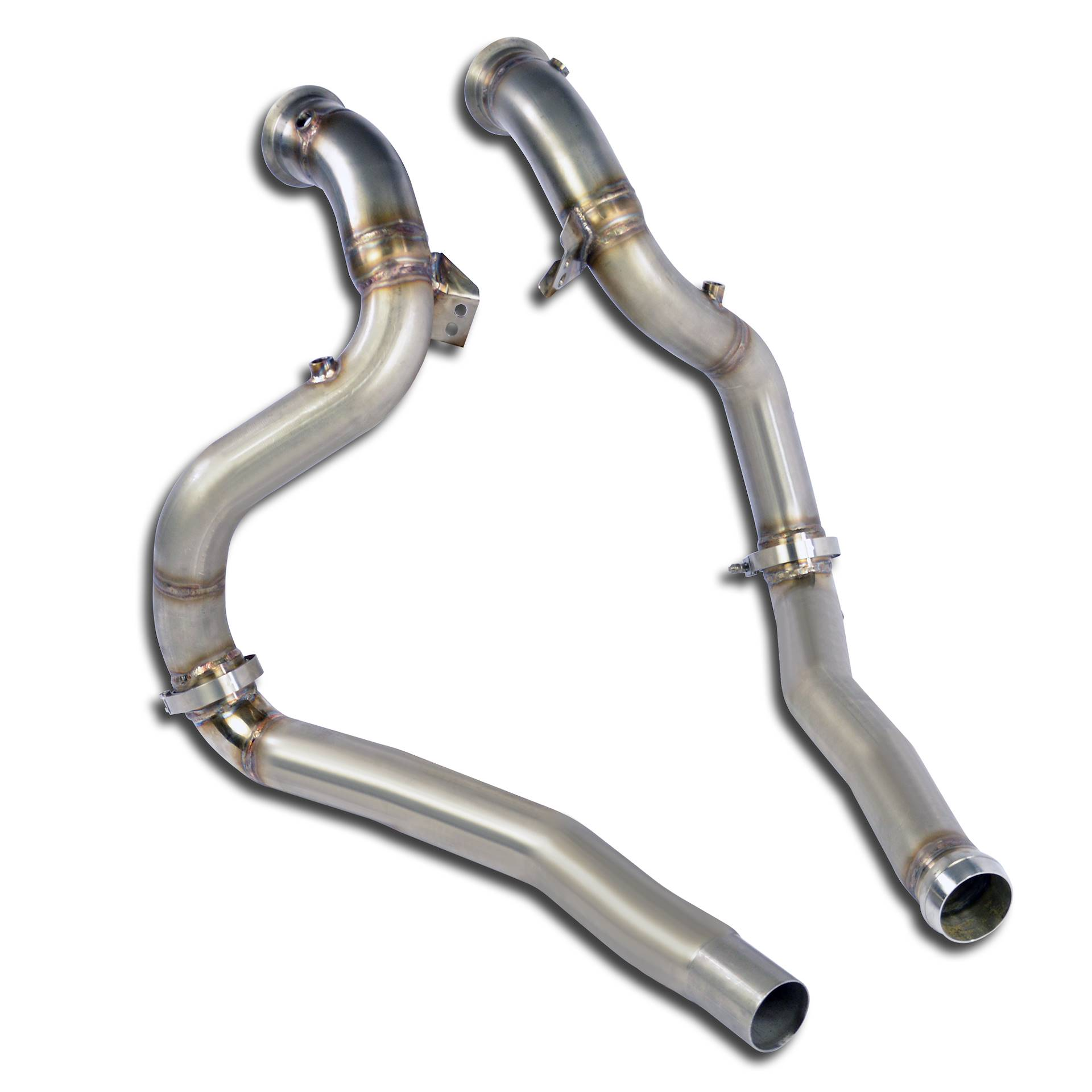 """Downpipe kit Right + Left (Replaces catalytic converter) for MERCEDES C190 AMG GT """"Black Series"""" GPF"""