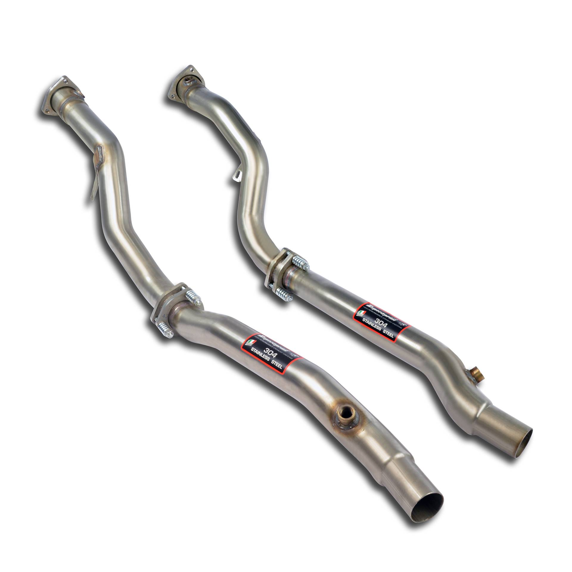 Audi  S / RS - AUDI A6 4B S6 QUATTRO (Sedan + Avant) 4.2i V8 (340Hp) ' 99 ->' 04 Downpipe kit Right + Left<br>(Replaces catalytic converter), performance exhaust systems