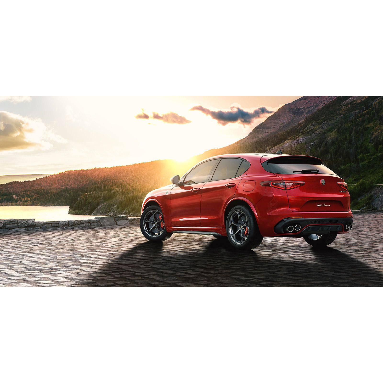 VTDOUQ Passend F/ür Alfa Romeo Stelvio SUV 2017-2019 Carbon Fiber Cf Heckdachfenster Spoilerfl/ügel