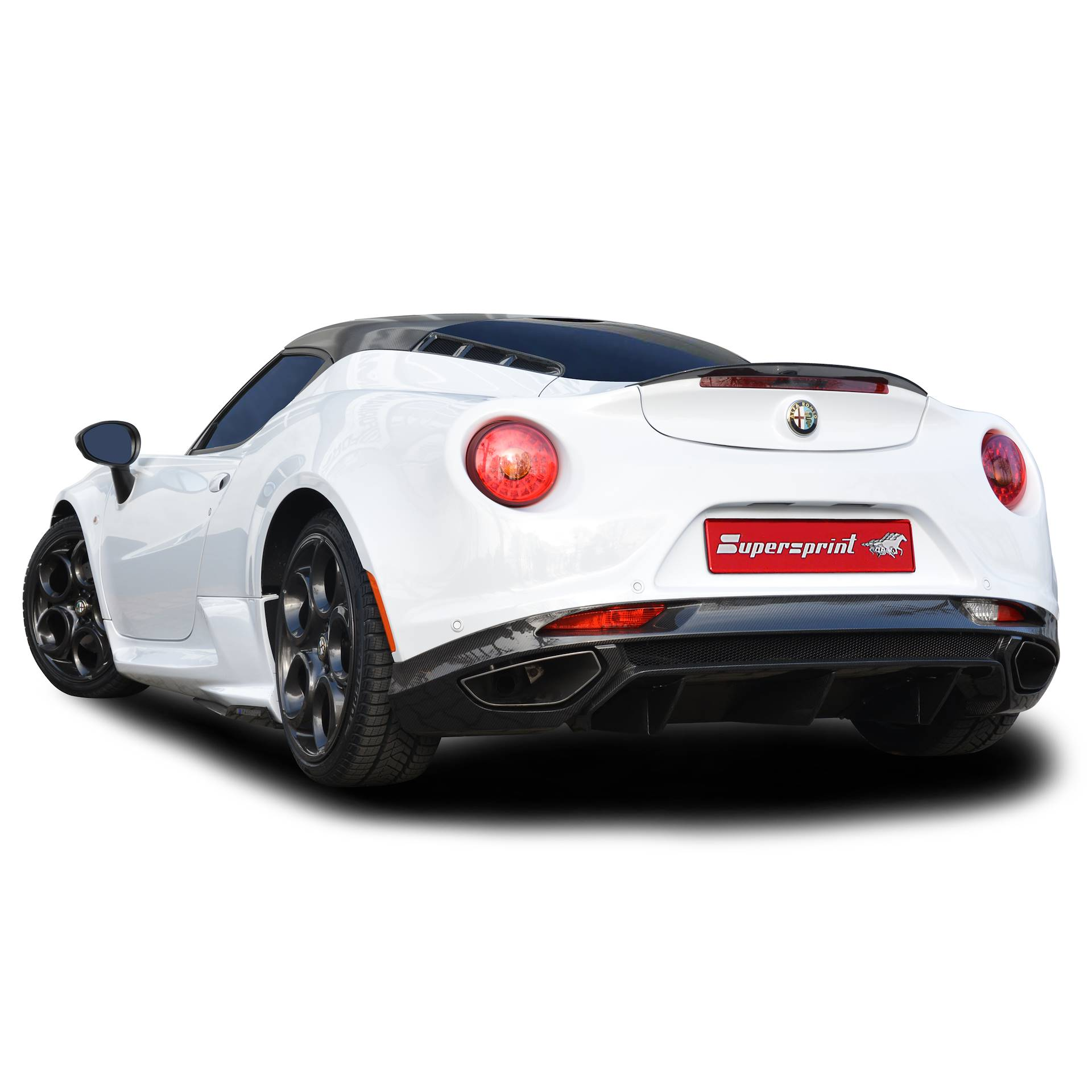 Supersprint exhaust system for ALFA ROMEO 4C 1750 TBi (241 Hp)