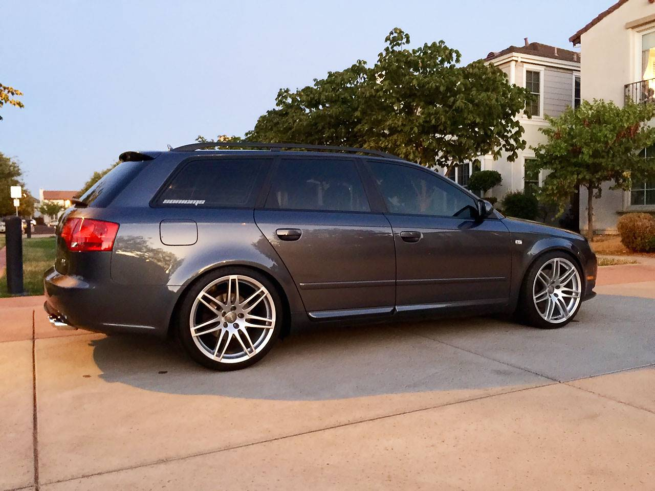 Audi A4 B7 3.2 FSI Quattro with Supersprint sport exhaust 763522 + 763513 + 765407 + 765437 and S4 diffuser