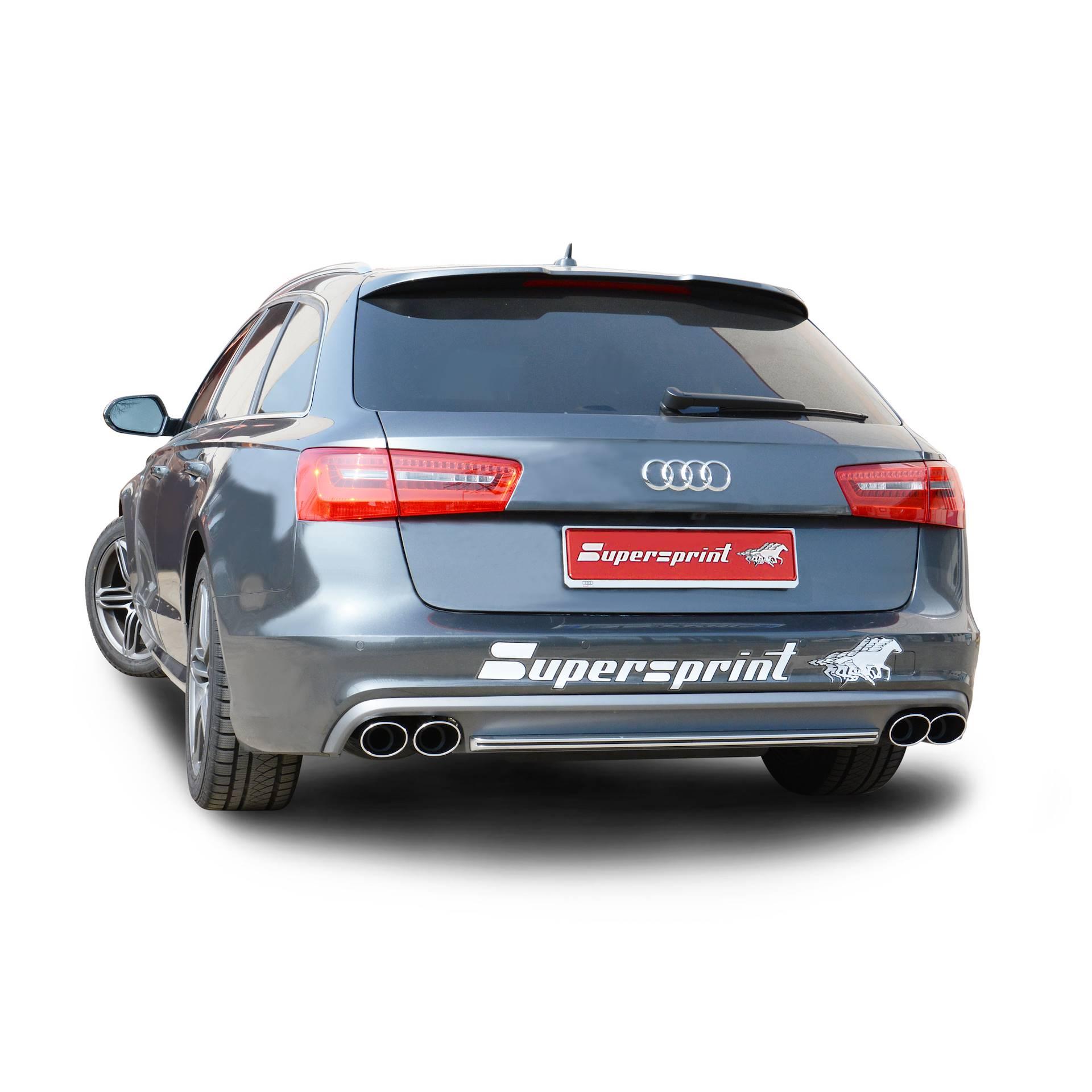 Supersprint Endrohrsatz Quot S6 Look Quot F 252 R Audi A6 3 0 Bitdi