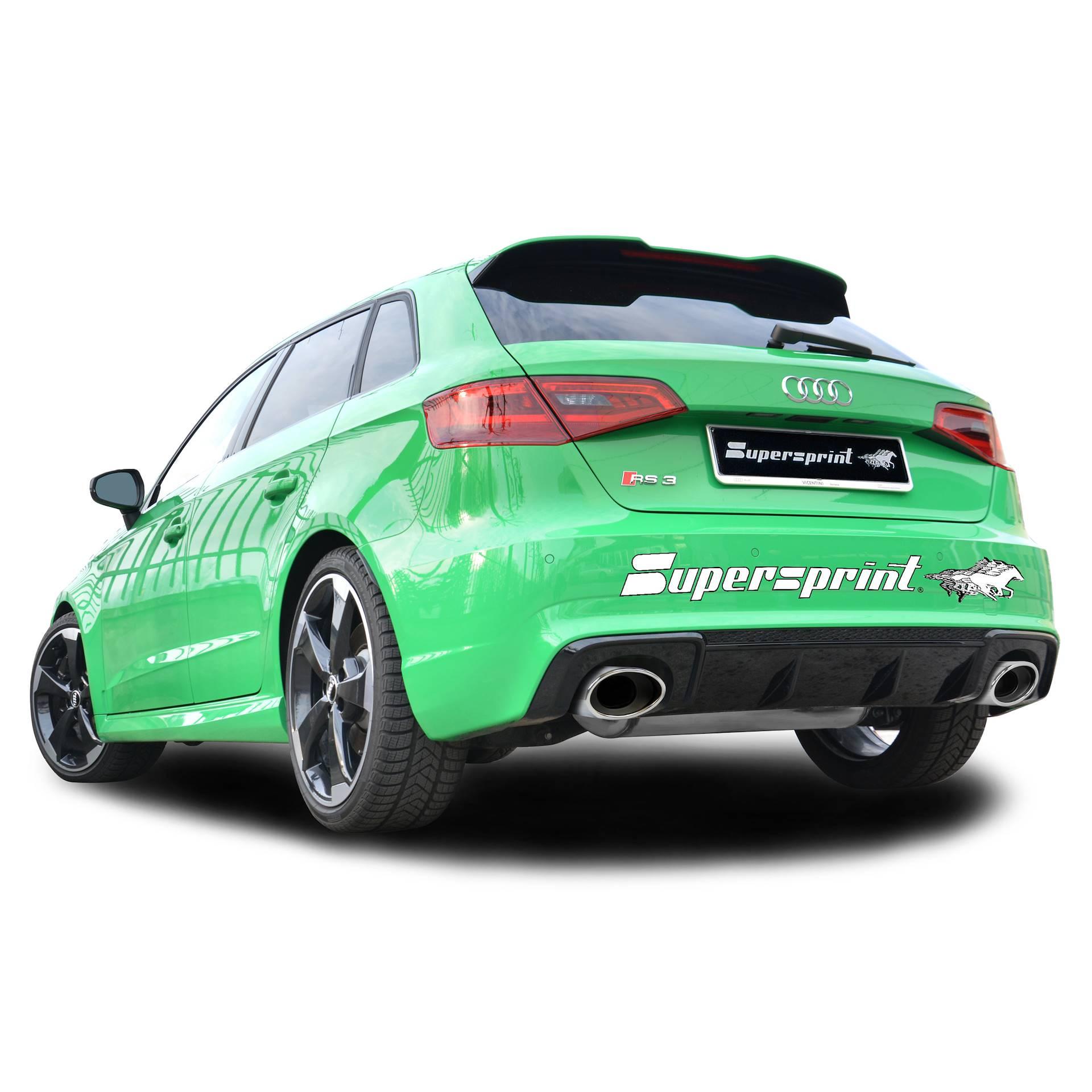Supersprint udstødning til Audi RS3 8VA Sportback Quattro