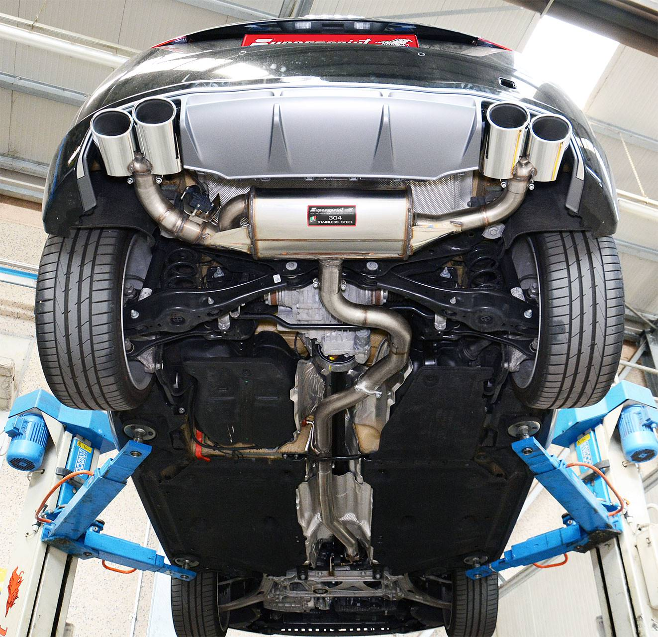 Full sport exhaust Supersprint for Audi TT Mk3 2.0 TFSI quattro installed