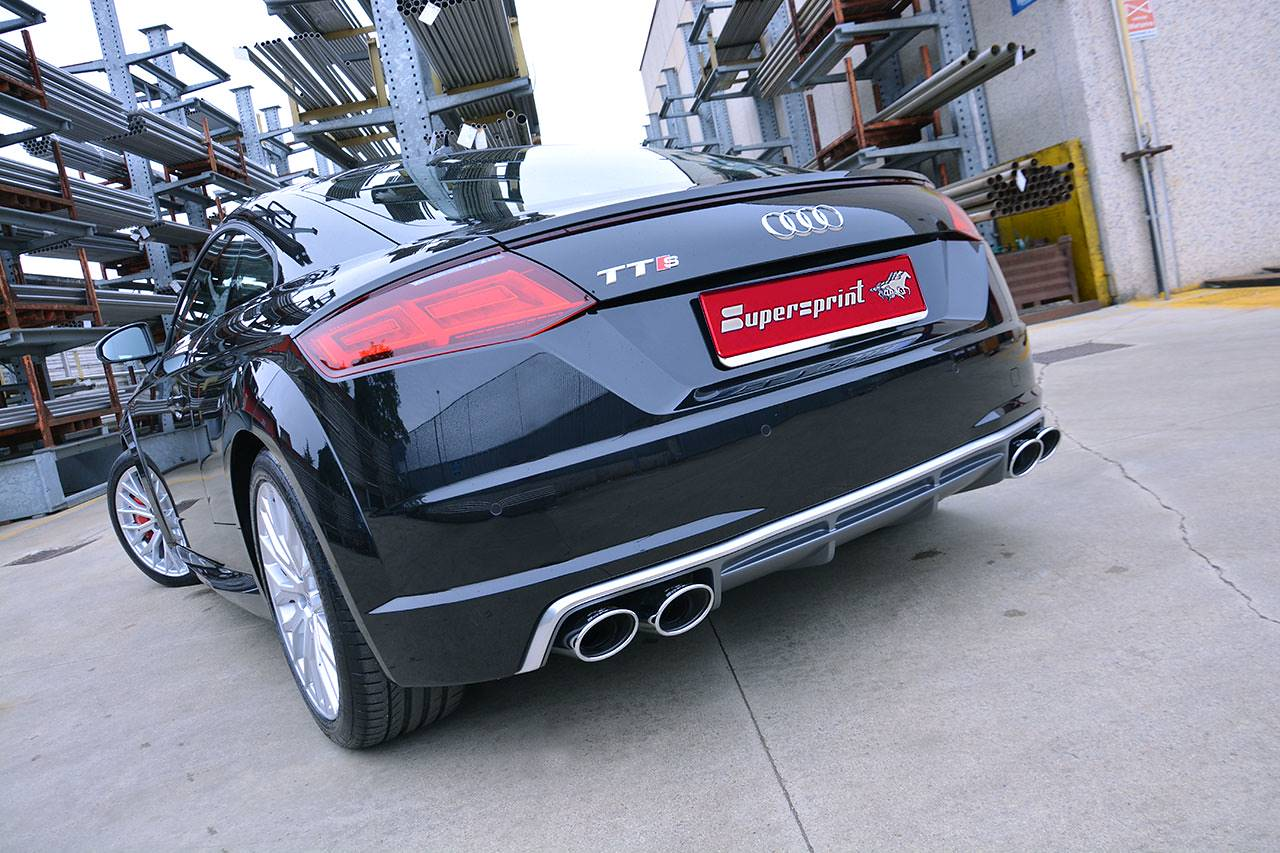 Supersprint high performance exhaust for Audi TT-S Mk3 2015 120x80mm oval tips