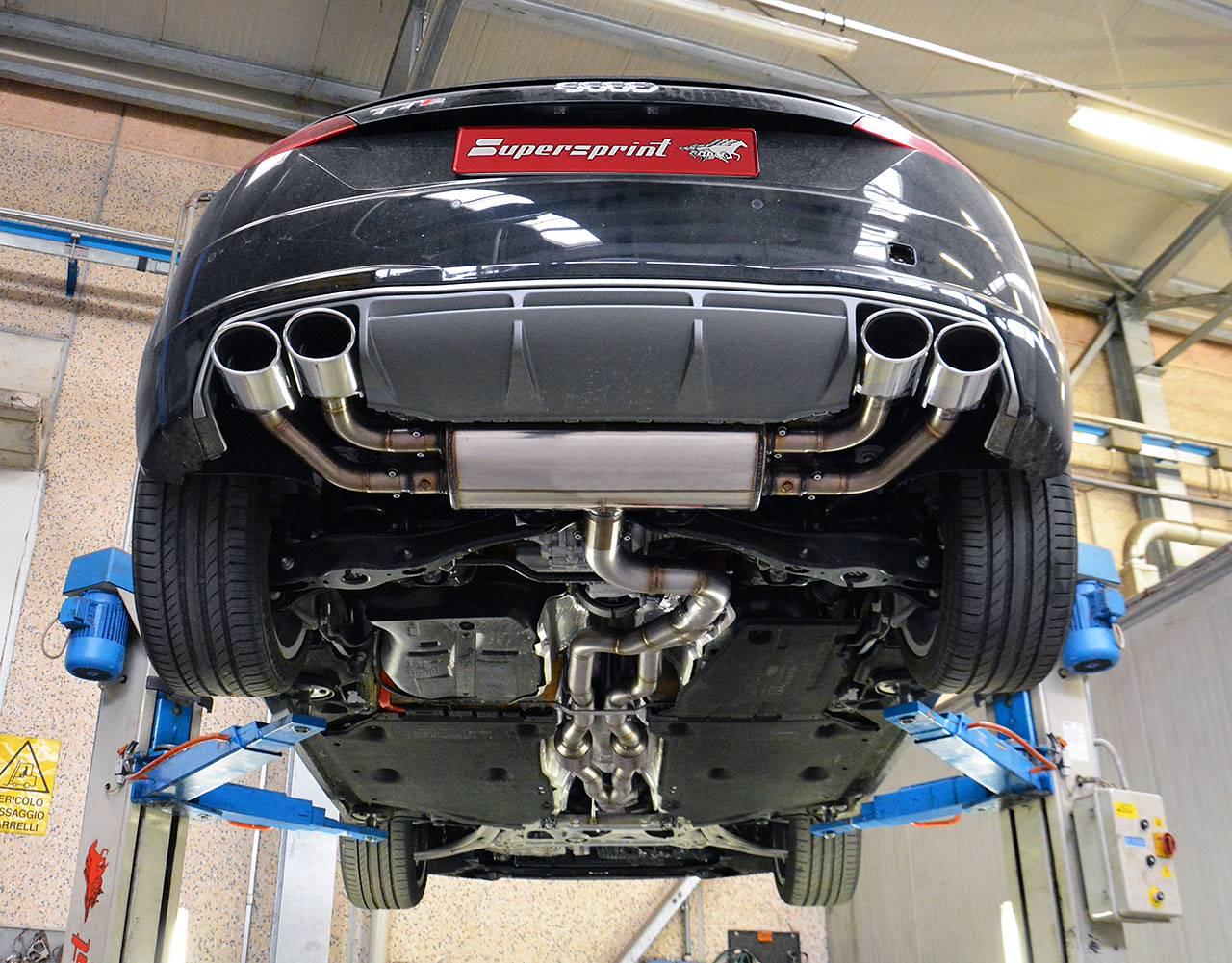 New Full Exhaust For Audi Tts Mk3 8s 2015 310hp 2015