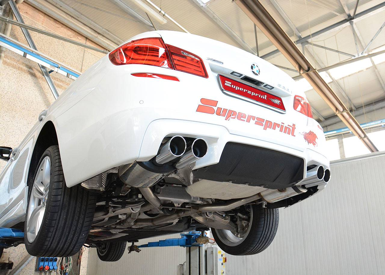 Supersprint sport exhaust composed by central Y-pipe 982943, rear exhaust right OO90 982956 and rear exhaust left OO90 982976 for BMW F10 / F11 528i