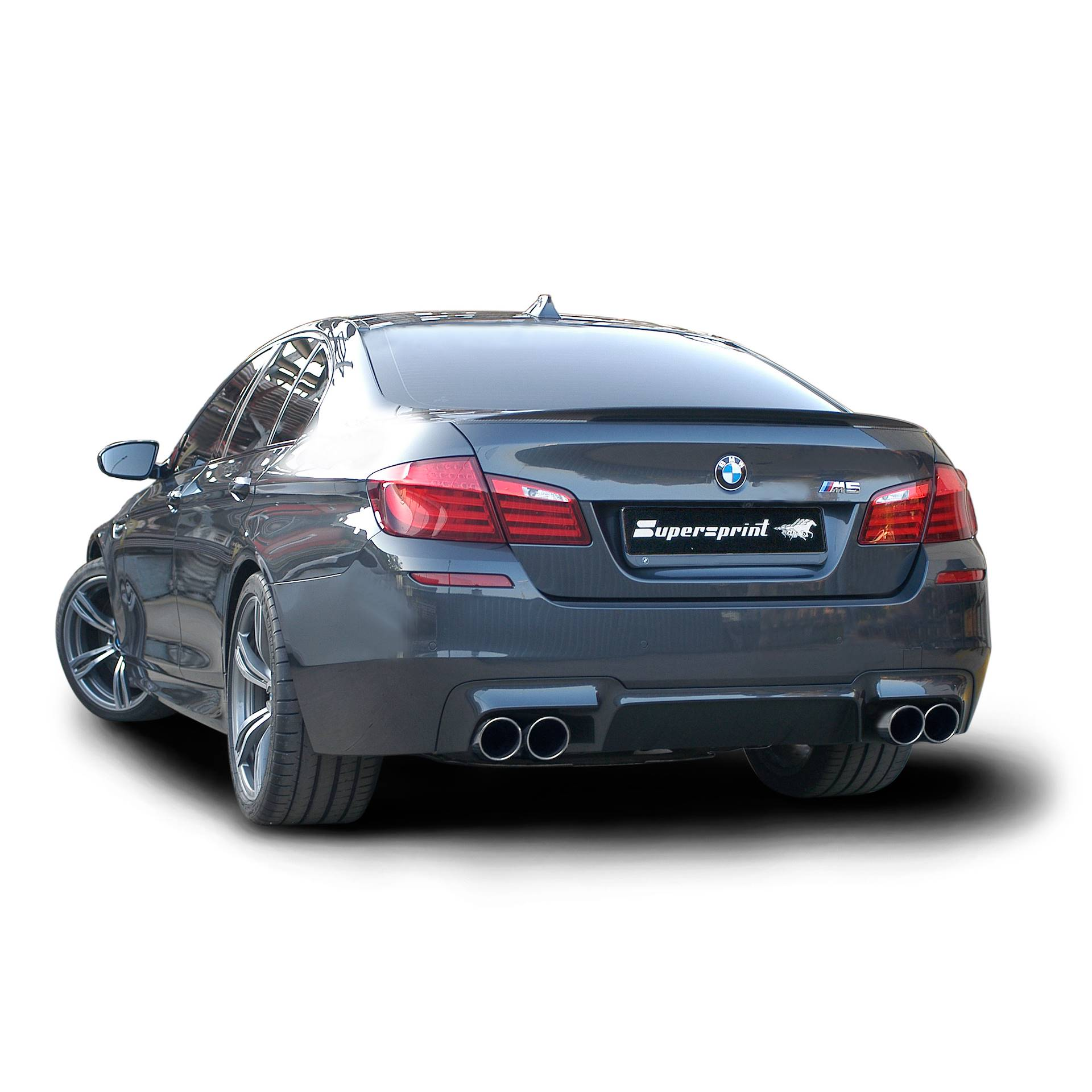 bmw f10 m5 v8 2012 full supersprint exhaust rear mufflers with bypass valves official videos. Black Bedroom Furniture Sets. Home Design Ideas