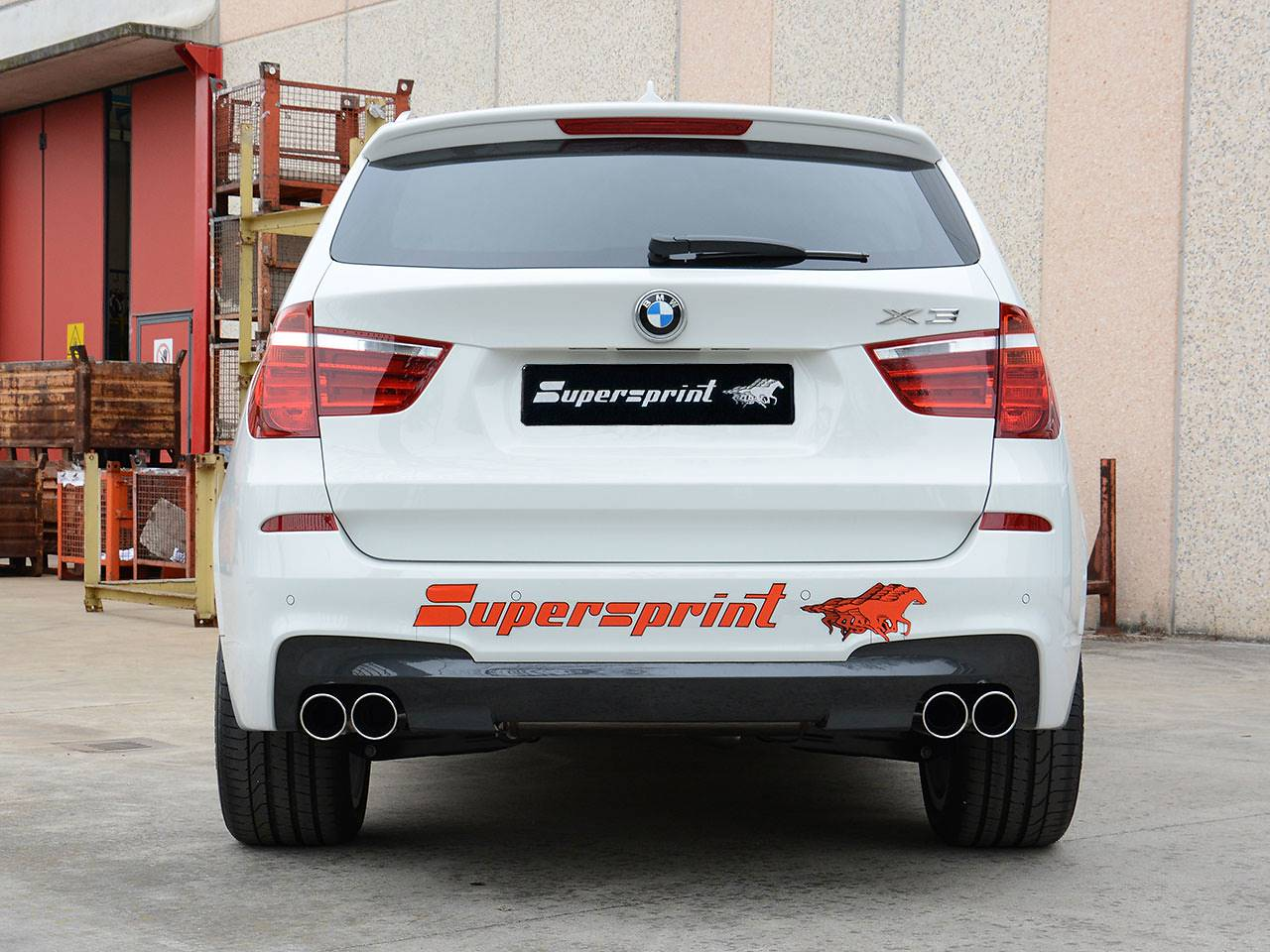 Supersprint rear exhaust OO90 986026 for BMW F25 X3 20d