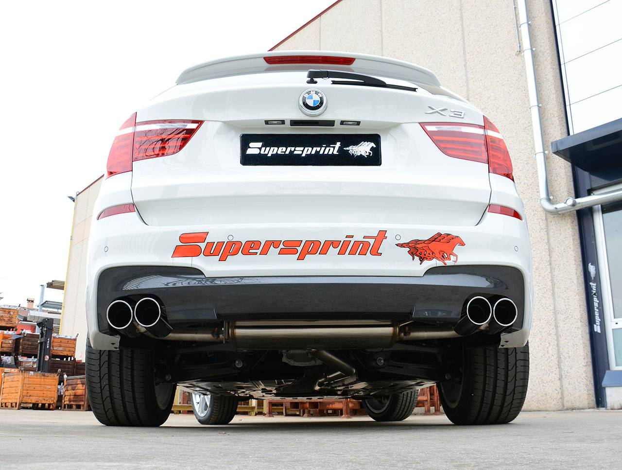 Posteriore Supersprint 986026 su BMW F25 X3 20d