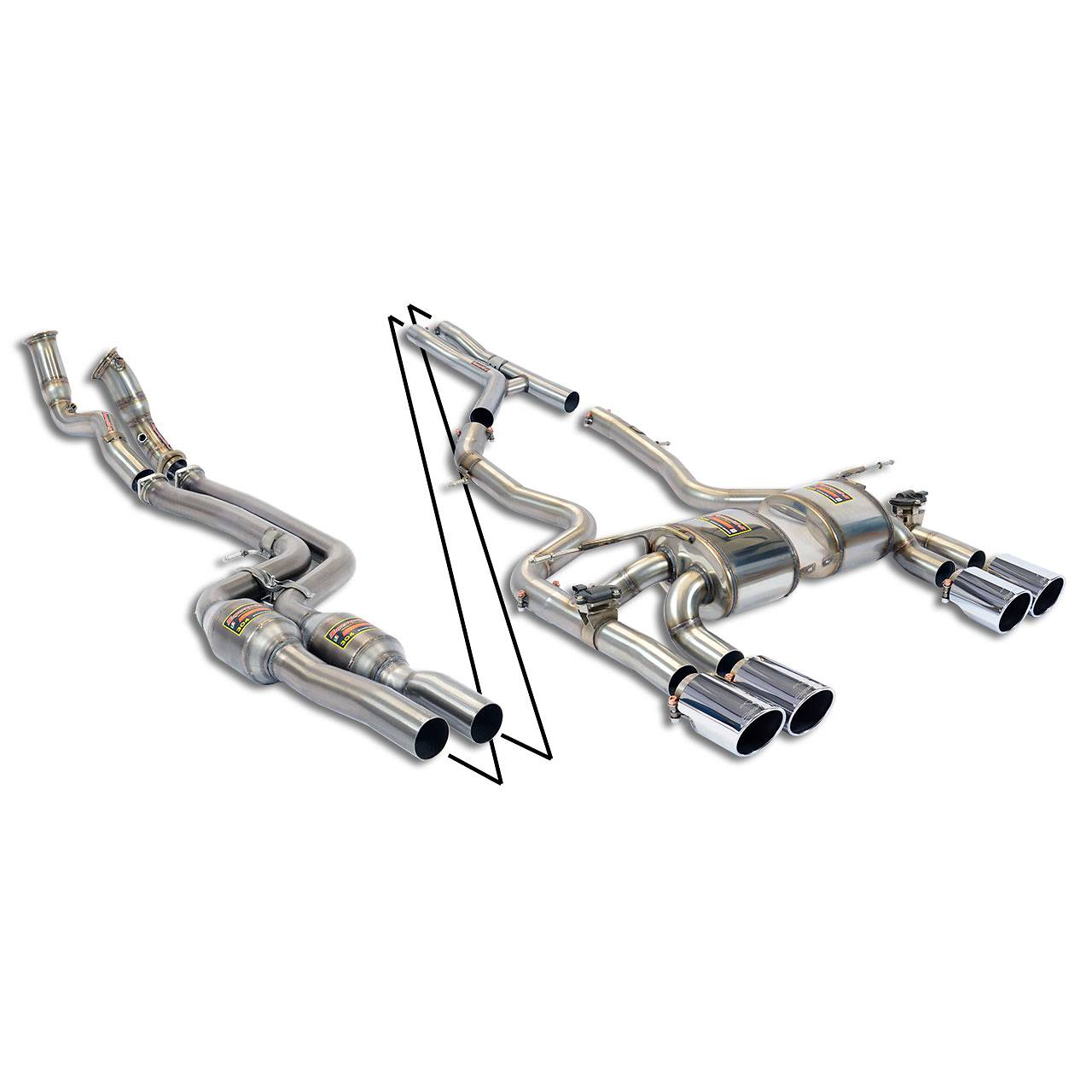 performance sport exhaust for bmw f80 m3 with valve  bmw