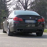 BMW M5 F10 sound con downpipe scatalizzati 986711