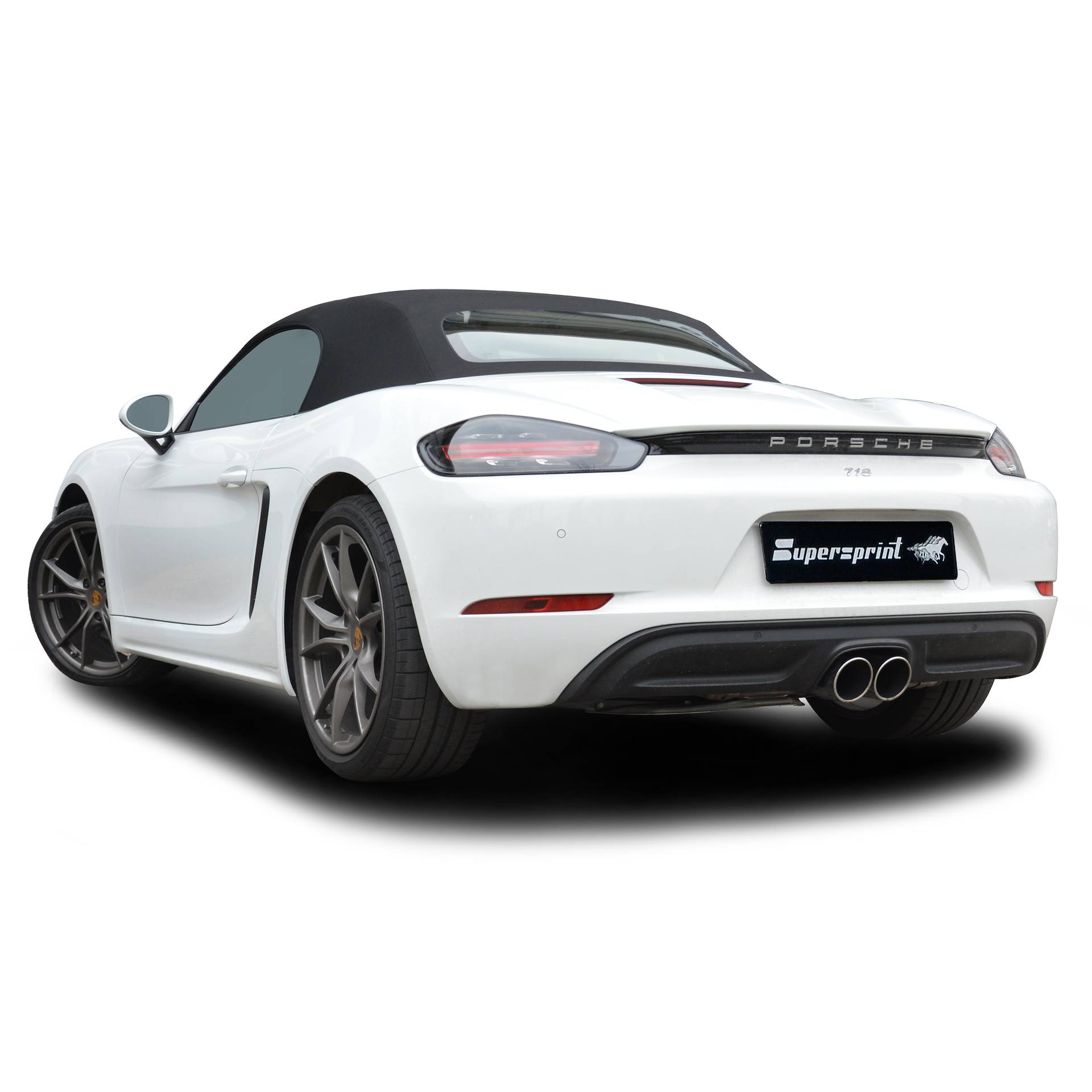 Supersprint exhaust system for PORSCHE 718 BOXSTER 2.0i Turbo (300 Hp) 2016 -> (with valve)