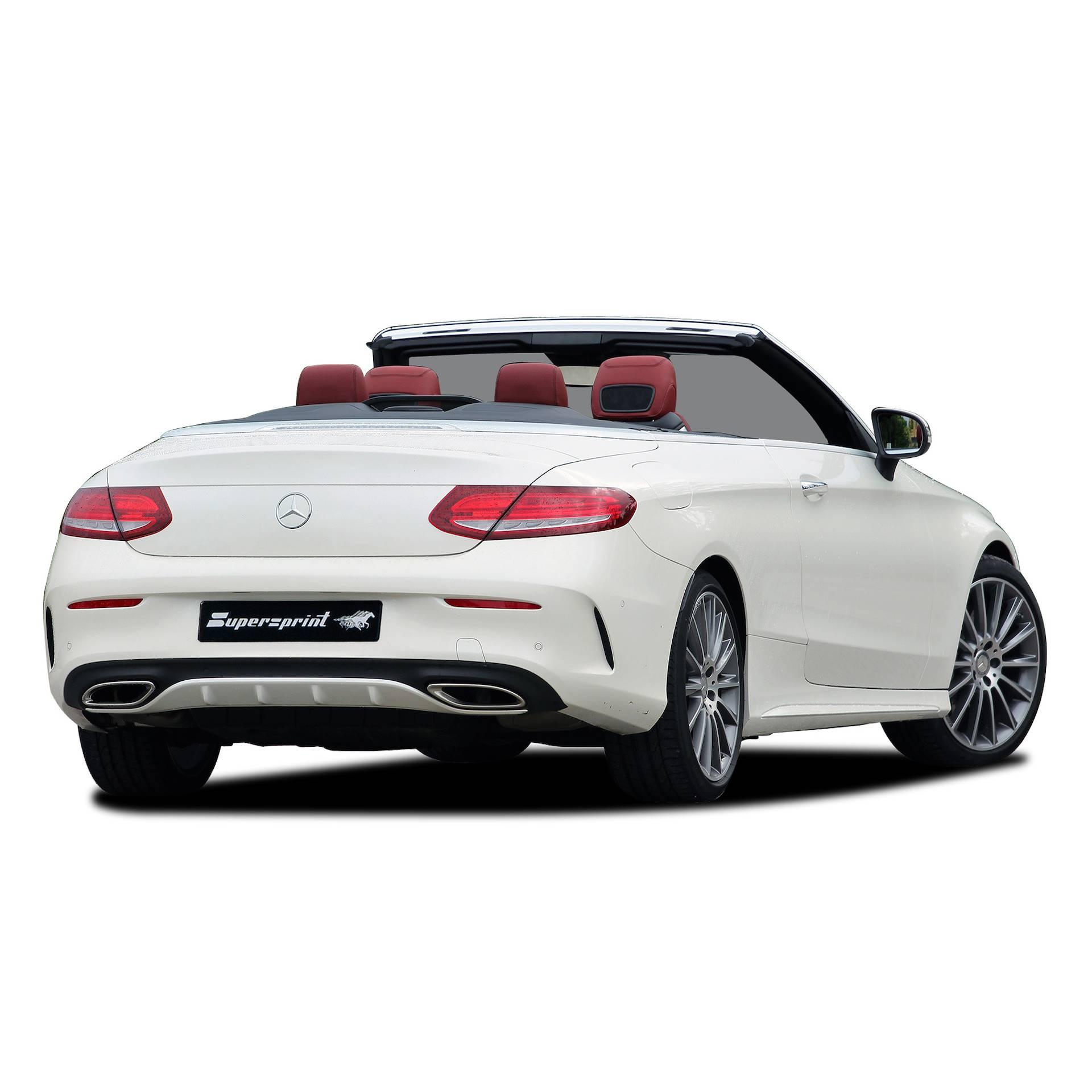 Supersprint fra Danspeed til Mercedes A 205 C200 C300 Cabriolet