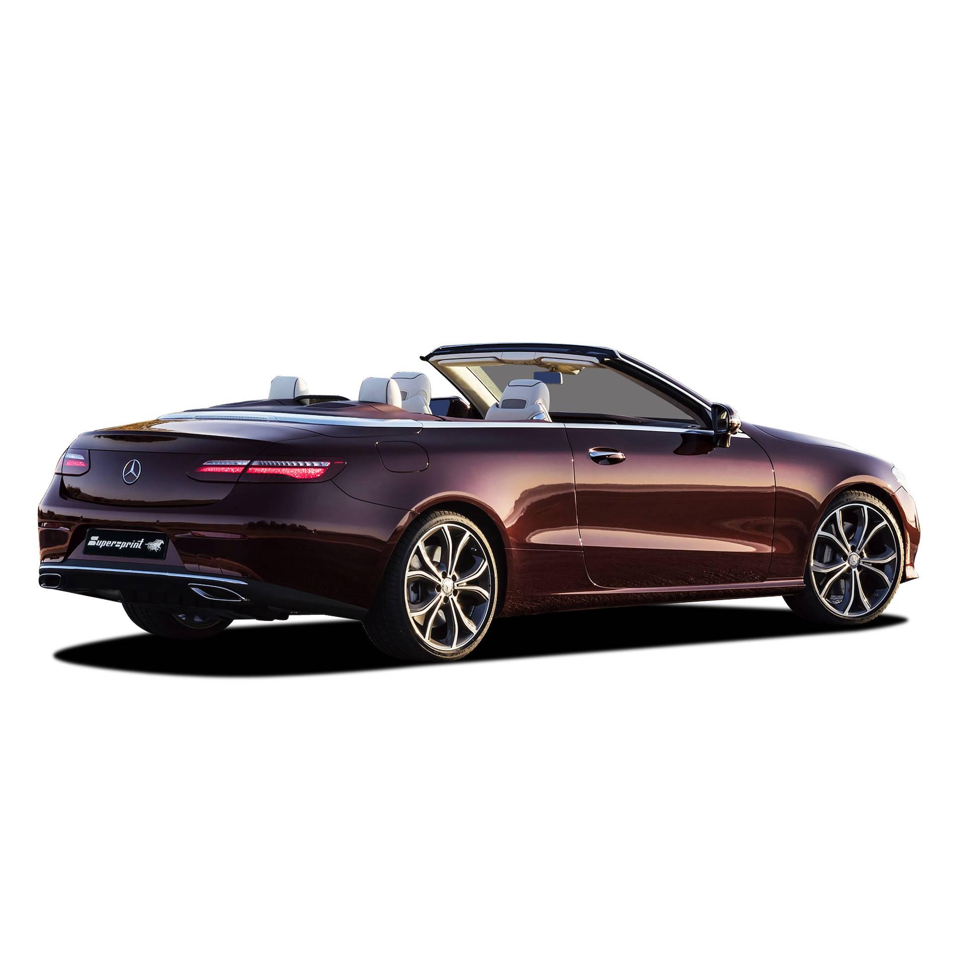 performance sport exhaust for mercedes a238 e 300 cabrio. Black Bedroom Furniture Sets. Home Design Ideas