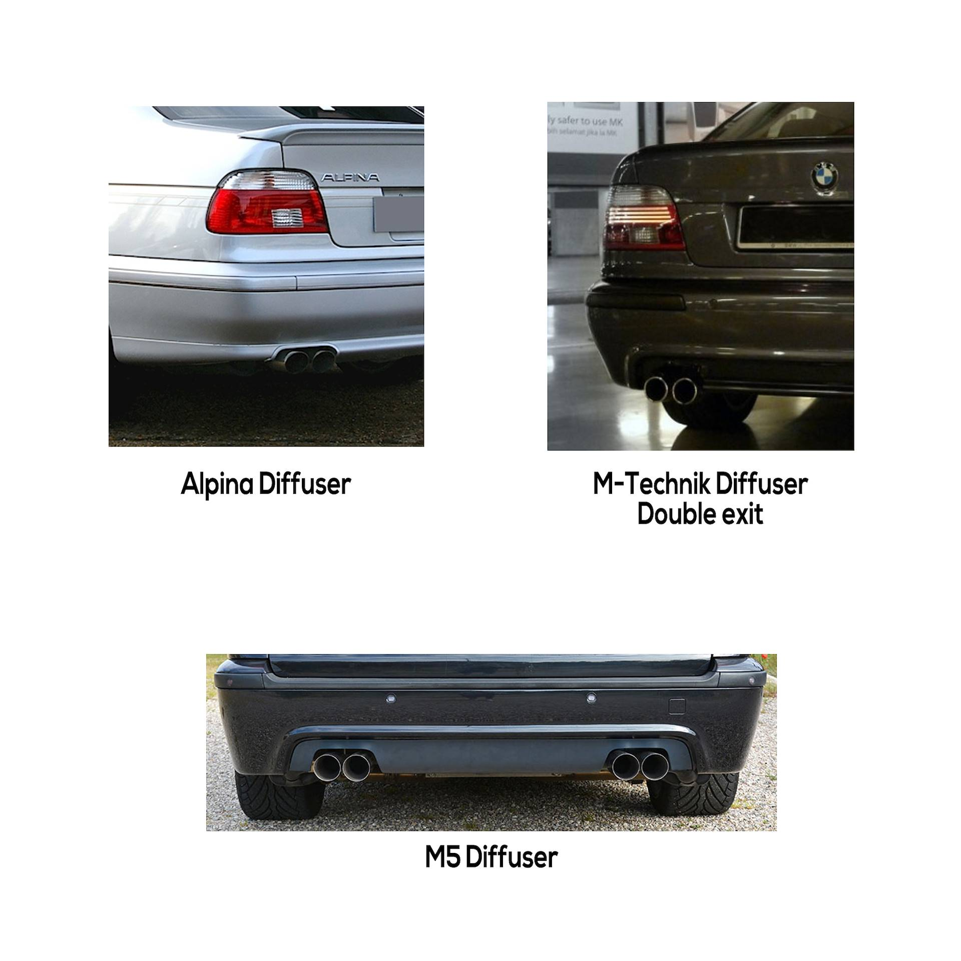 Performance sport exhaust for BMW E39 535i - 540i Dual-Pipe