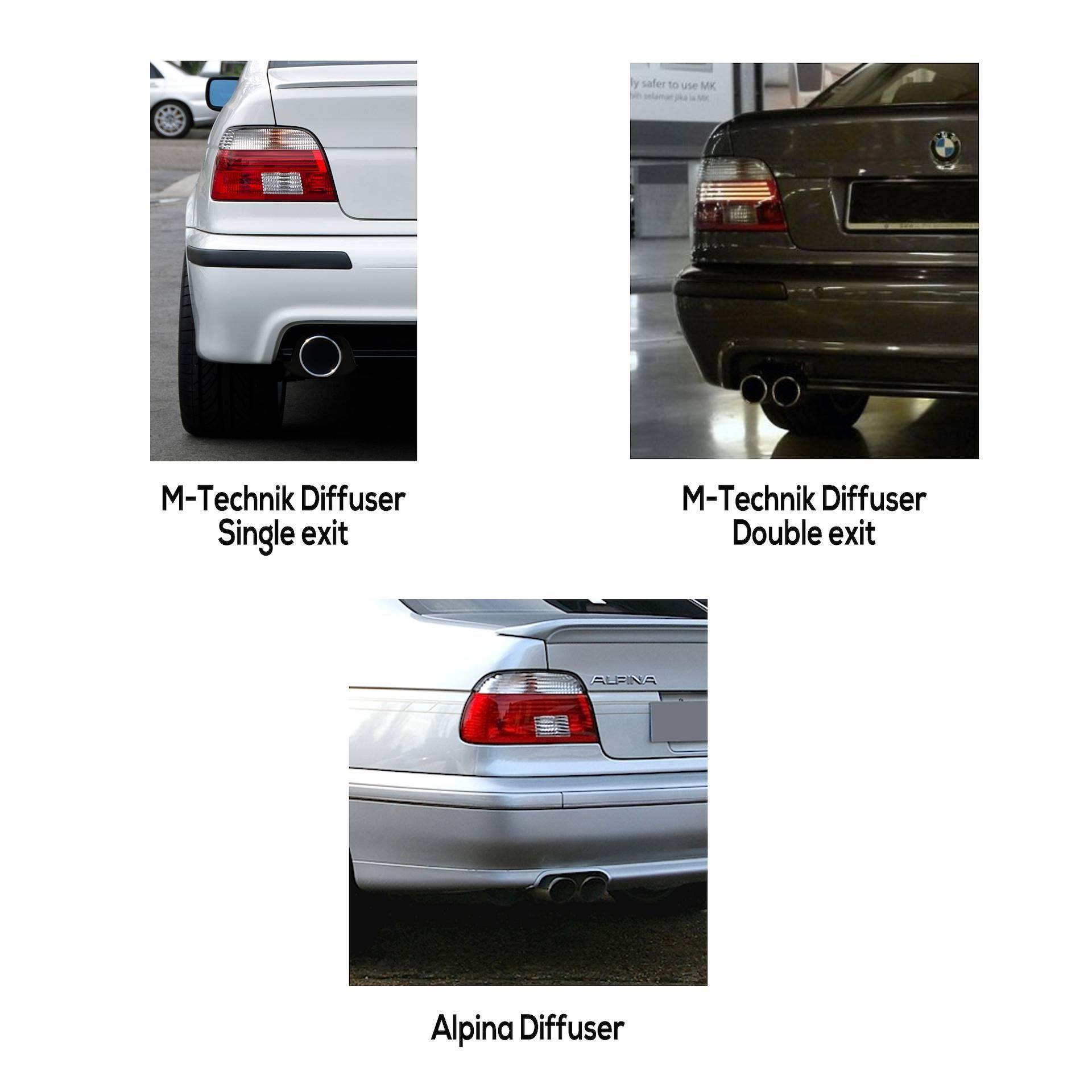 neu BMW 5 535 i 540 Montagesatz Abgasanlage Auspuff SET E39