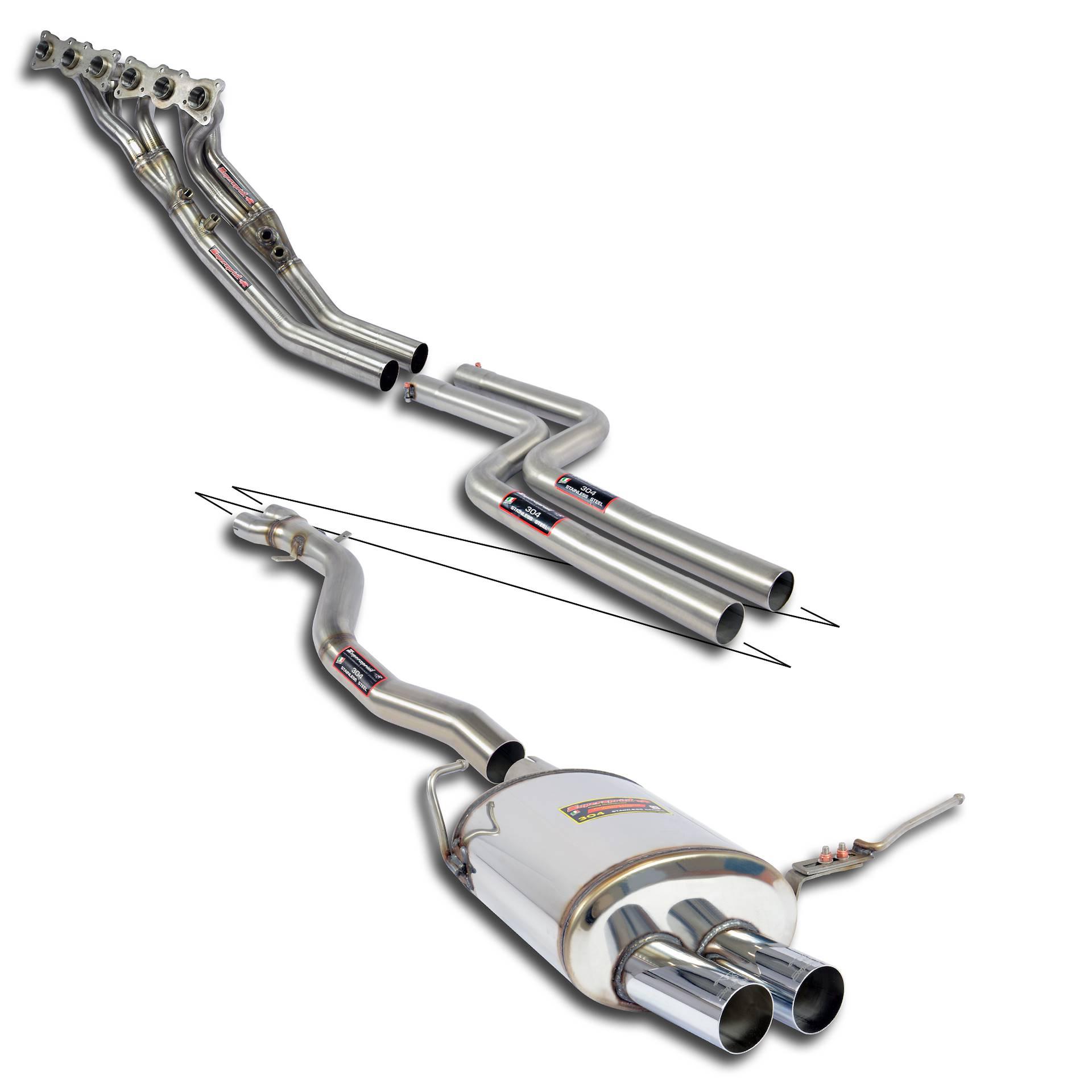 Supersprint udstødning til BMW Z4 Roadster