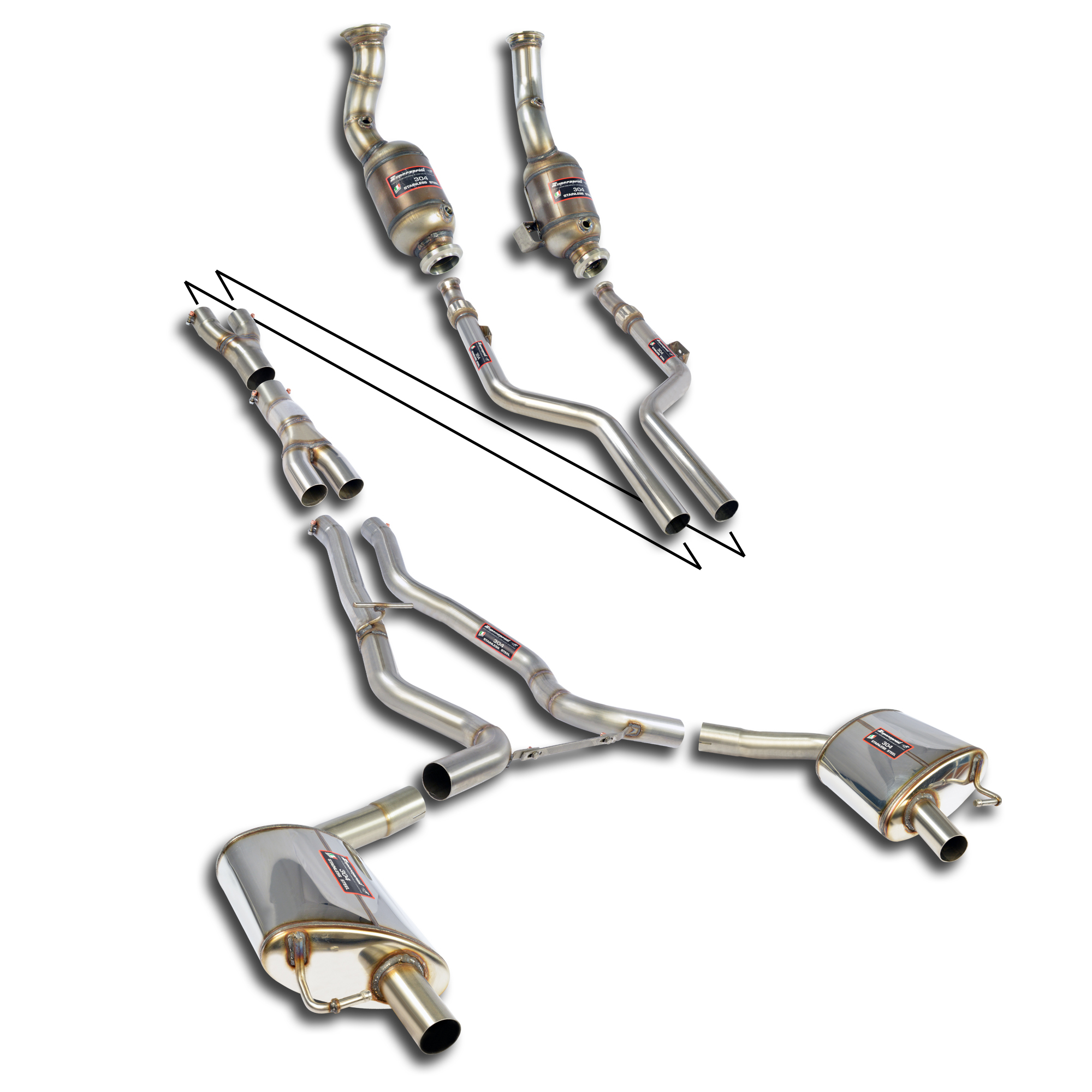 Performance sport exhaust for MERCEDES W205 C43 AMG