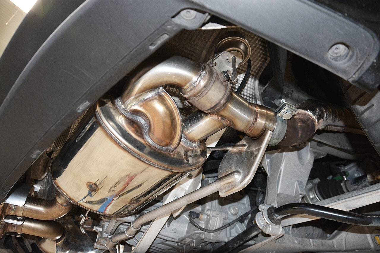 Porsche 981 - Supersprint exhaust 248054 + 248026 fitted