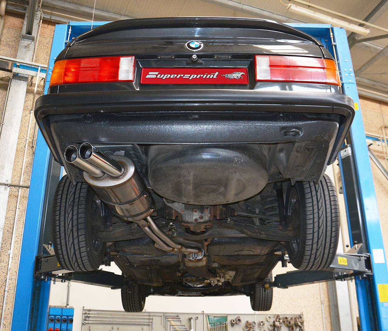 Sportauspuff Anlage Für BMW E30 320i, BMW E30 320i Kat