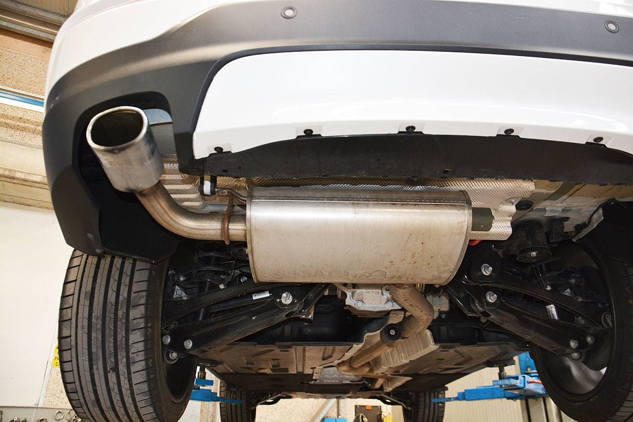 Stock exhaust BMW F26 X4 20d
