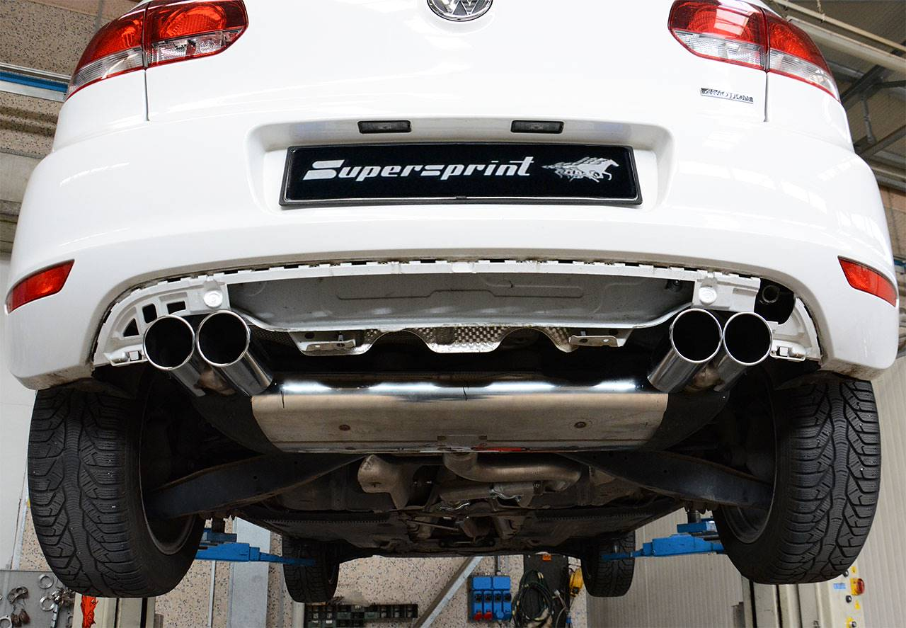 Supersprint sport exhaust composed by rear exhaust right-left 768604, tailpipe 764616 and centre pipe 768513