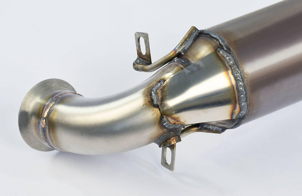 downpipe catalizzatore metallico per peugeot 208 thp 16v 155 hp 165 hp 2012. Black Bedroom Furniture Sets. Home Design Ideas