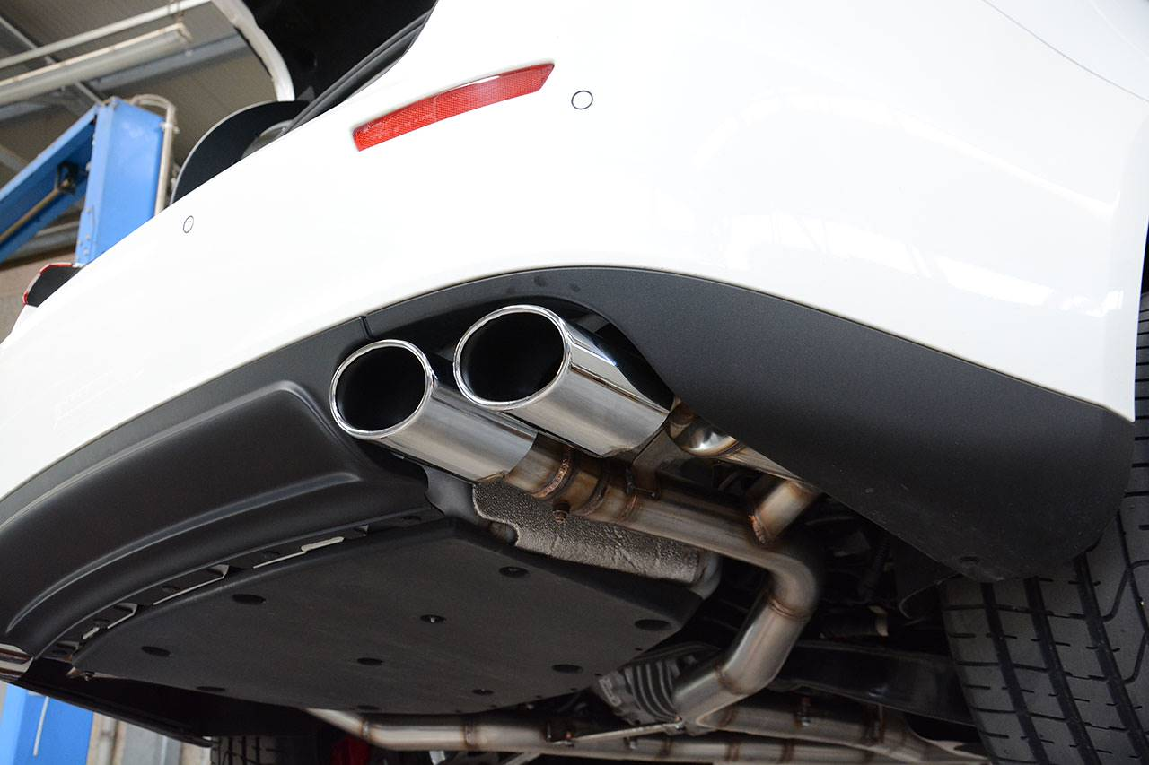 Supersprint sport exhaust Maserati Ghibli SQ4 - rear muffler with valve fitted