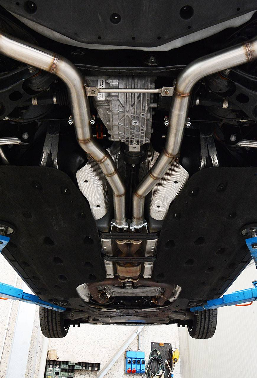 Supersprint sport exhaust Maserati Ghibli SQ4 - connecting pipes