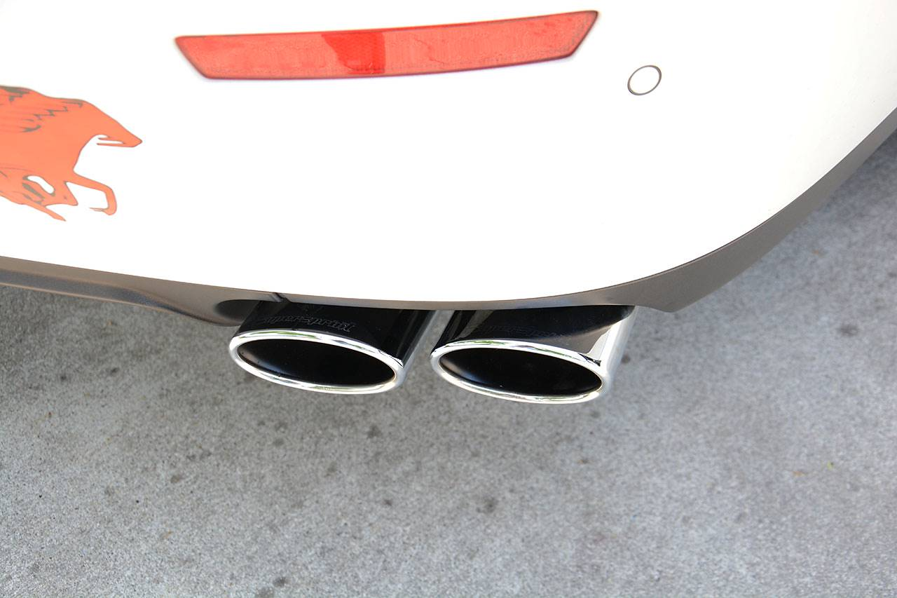 Supersprint sport exhaust Maserati Ghibli SQ4 with 120x80mm tips