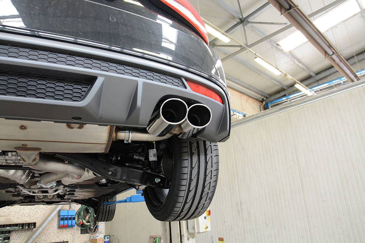 "Audi S1 3 doors sport exhaust ""Twin Pipe Design"" Supersprint fitted - 100x75mm oval tips"