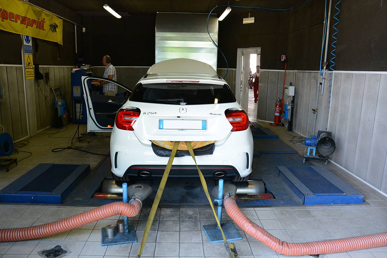 Dyno testing of Mercedes W176 A250 4matic