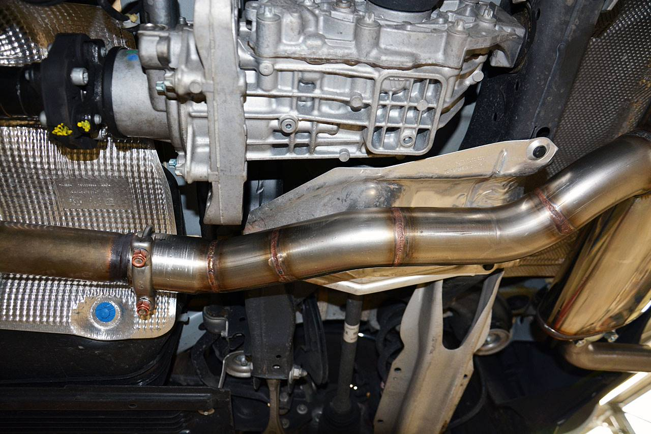 Rear muffler Supersprint 722004 fitted to Mercedes W176 A250 4matic