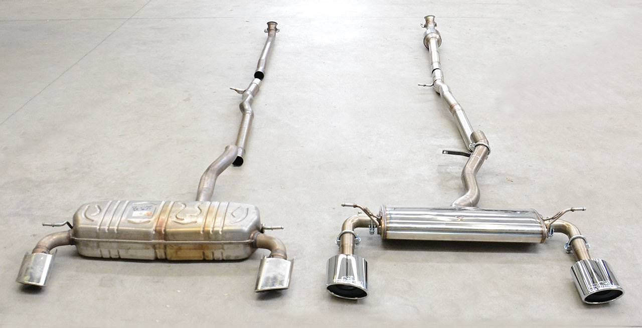 nuovo impianto di scarico per mercedes a250 e a220  cla250