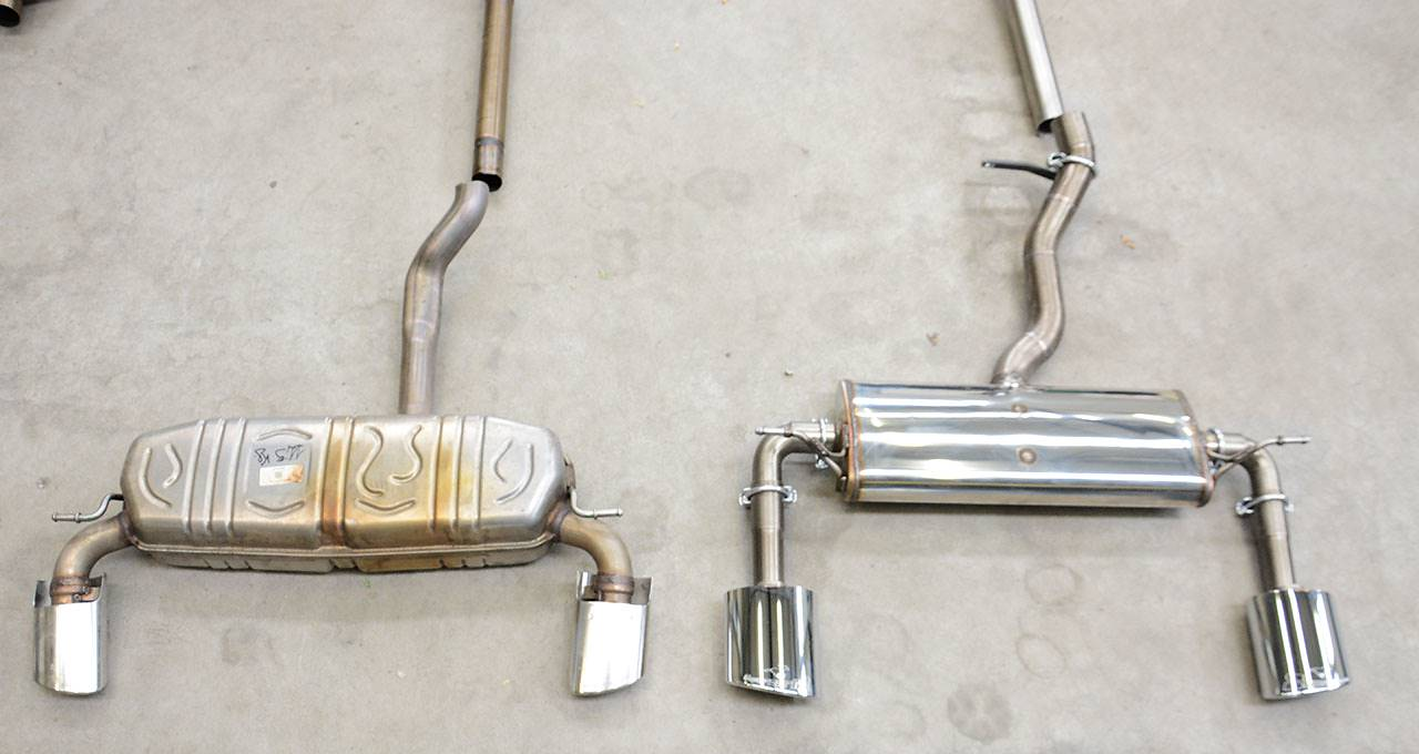 Supersprint sport exhaust prototype VS Stock - Mercedes W176 A250 4matic