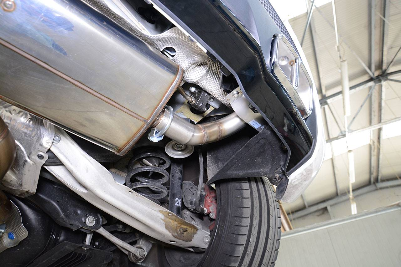 Supersprint exhaust with A45 AMG diffuser and tips fitted to A250 4matic