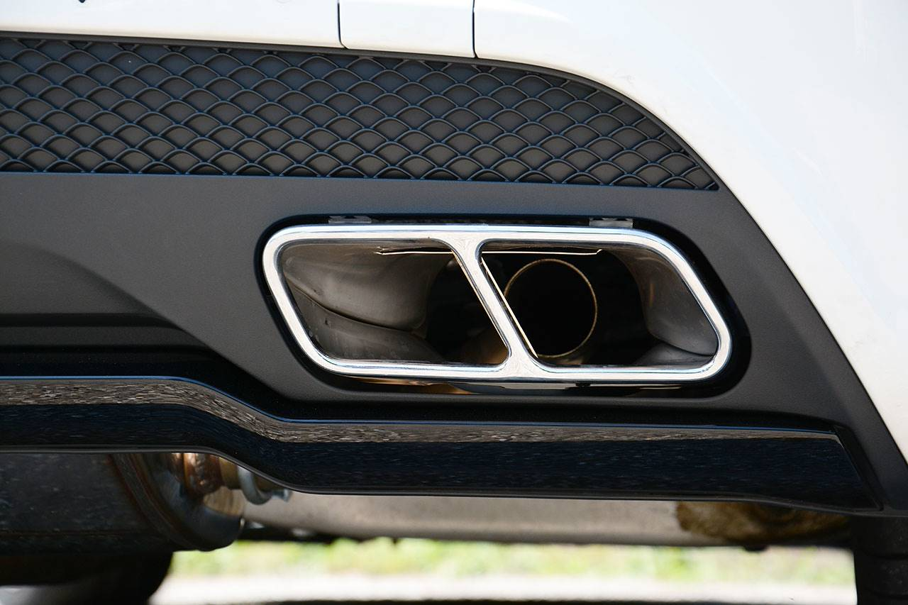Sport exhaust for Mercedes A220 W176 4matic Supersprint with A45 tailpipes and diffuser