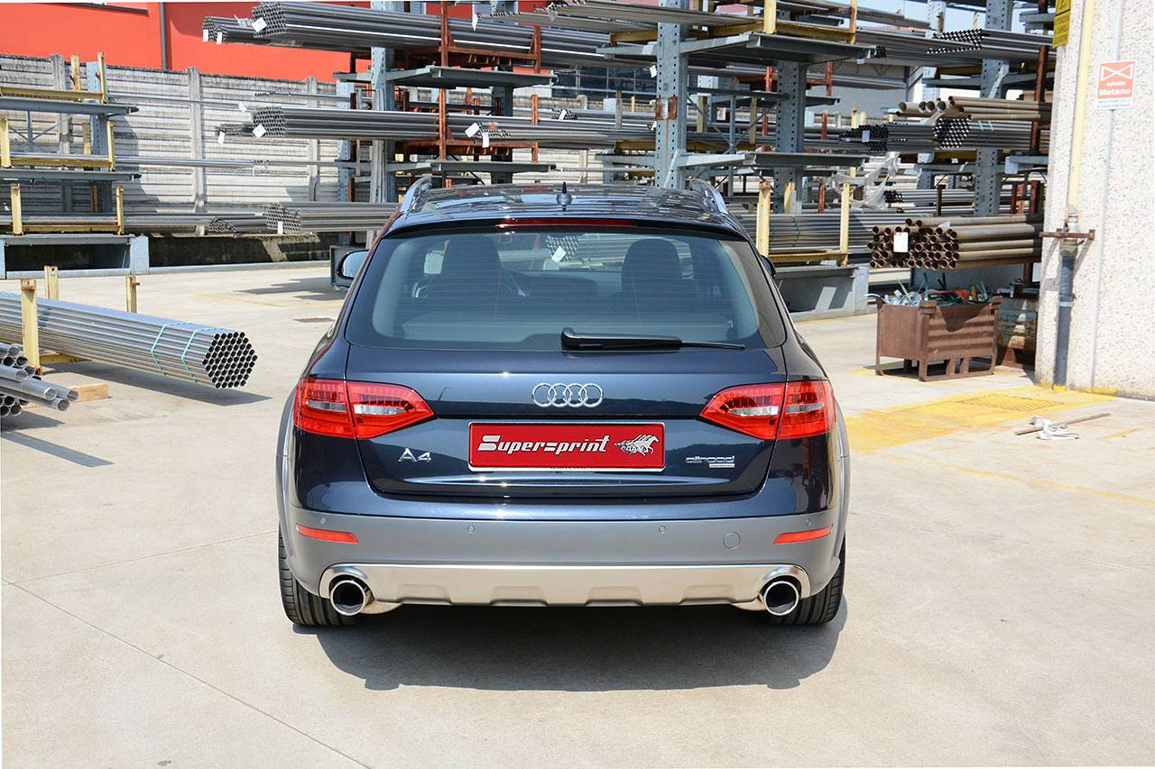Audi A4 B8 Allroad con scarico Supersprint terminali 100mm