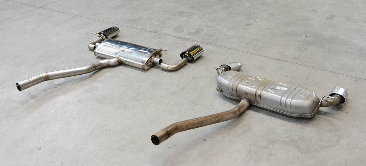 Exhaust Mercedes A250 W176: Supersprint VS Stock