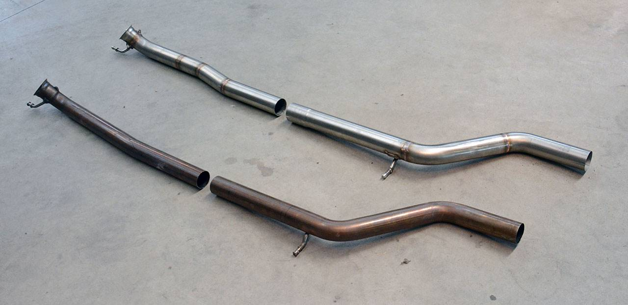 "Exhaust centre section Mercedes A250 W176 Supersprint cod. 722012 + 722013 vs Serie ""Supersport"""