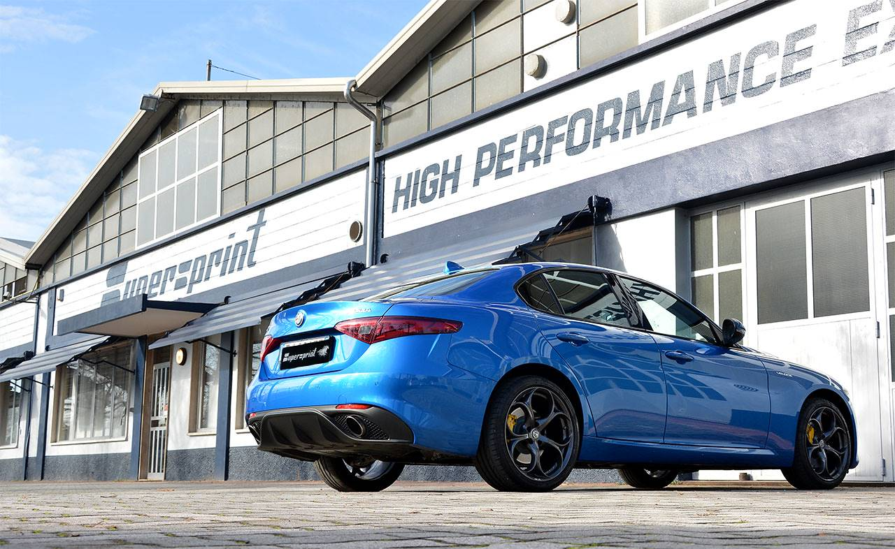 Supersprint exhaust system for Alfa Romeo Giulia Veloce 2.0i Turbo 280 Hp