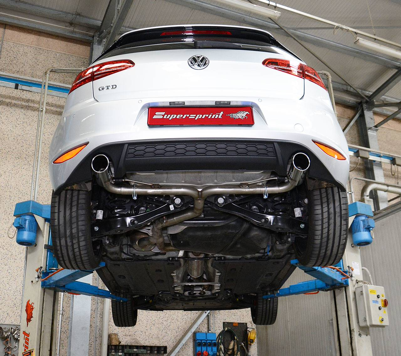 Golf Mk7 GTD   GTI Diffuser + Rear Pipe Right Left And 90mm Tailpipes 764614