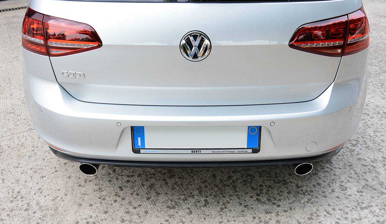 Golf 7 GTD - Dual exhaust GTI replica Supersprint with 90mm tips