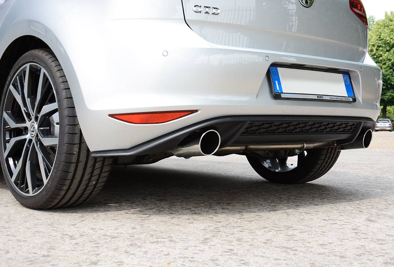 Golf VII GTD - Dual exhaust GTI replica Supersprint with 90mm tips