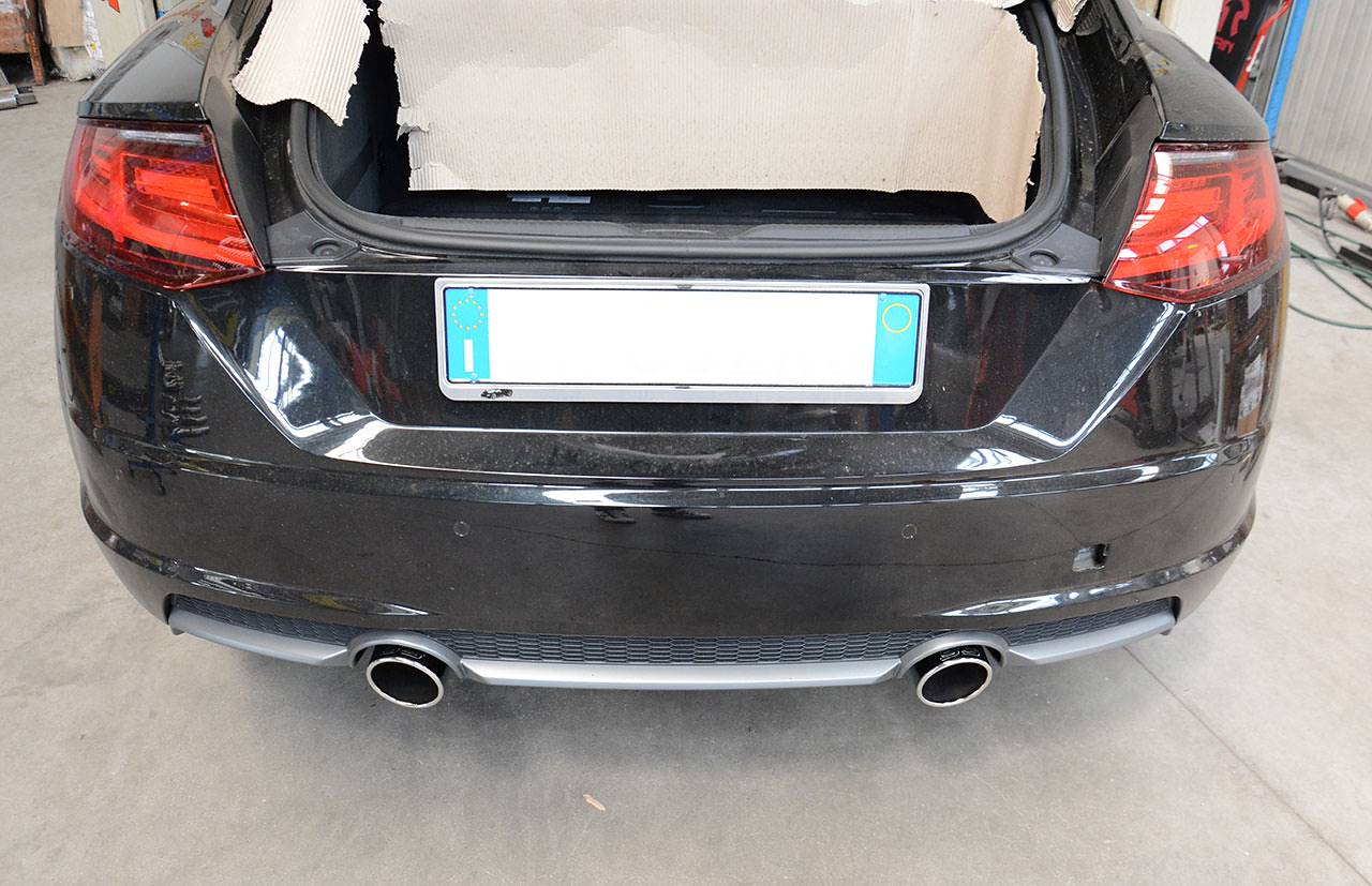 Supersprint exhaust for Audi TT Mk3 - 100mm round tips for OEM bumper