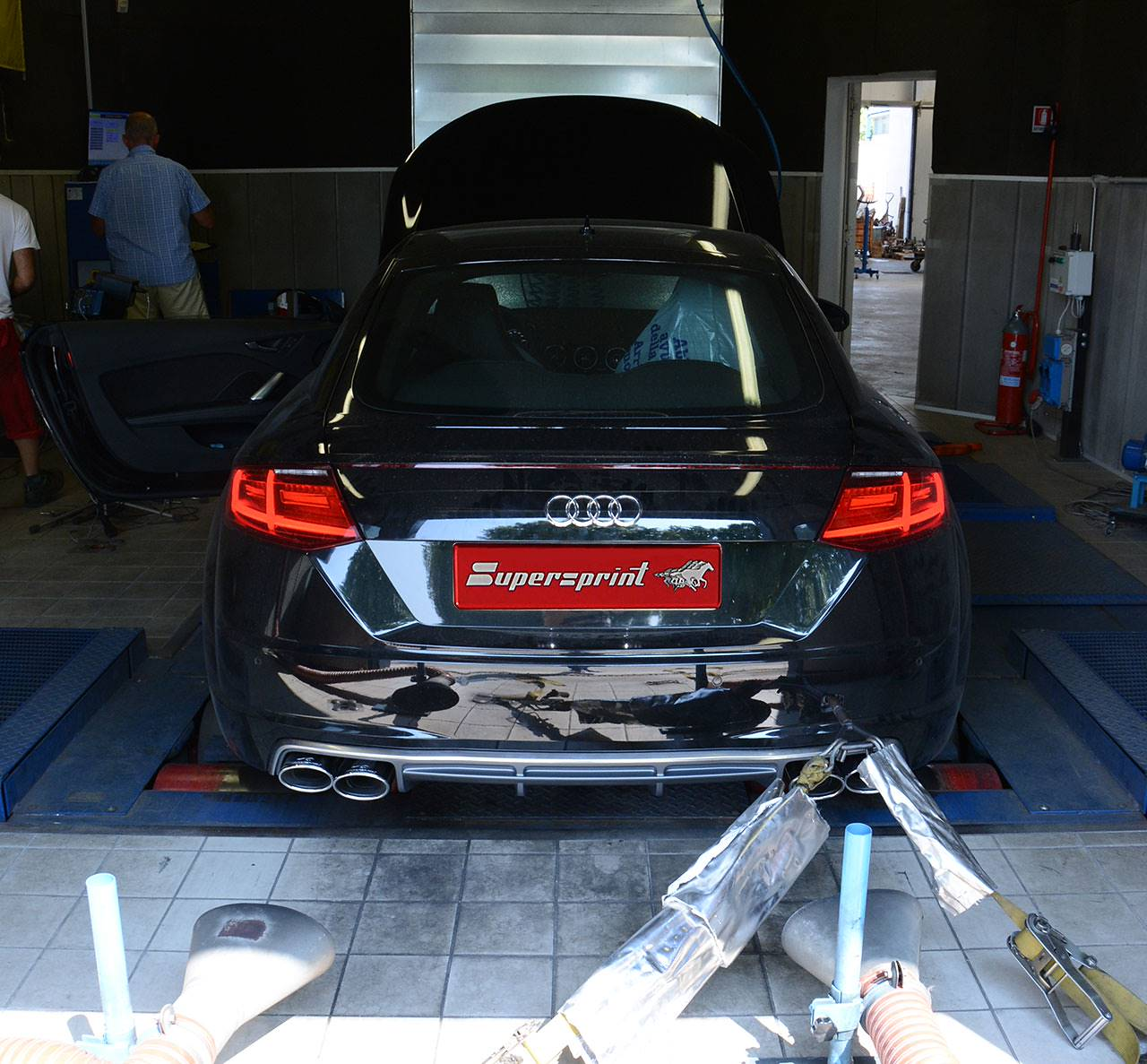 Full Supersprint exhaust for Audi TT mk3 - dyno testing
