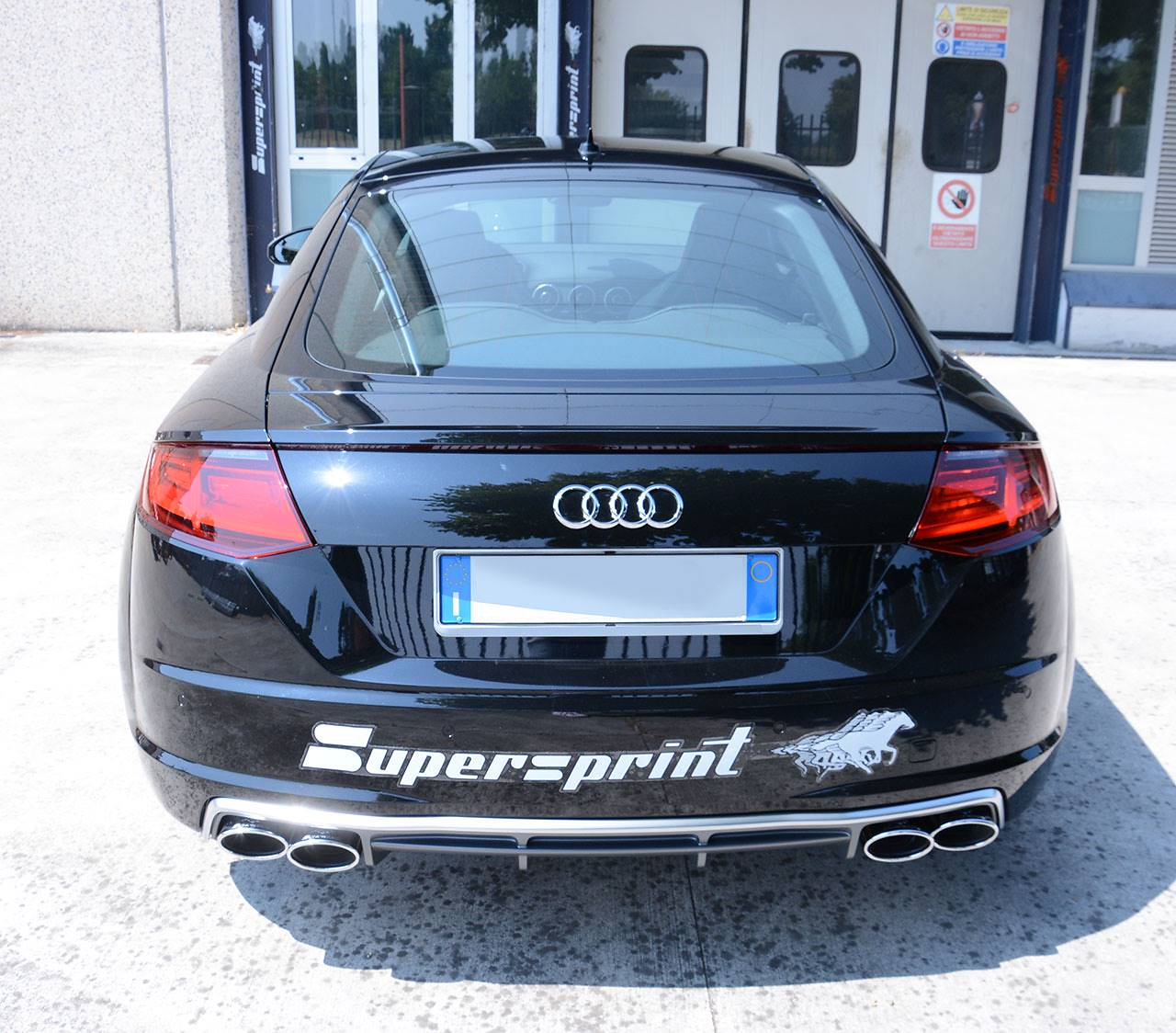 Supersprint exhaust for Audi TT Mk3 2.0 TFSI with TT-S diffuser and 120x80mm oval tips