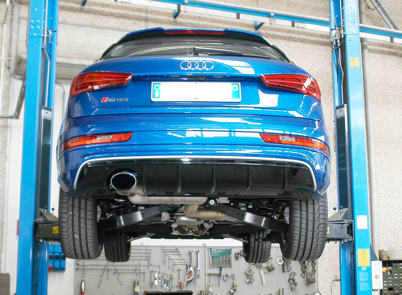 New Exhaust System For Audi Rs Q3 With Bypass Valve And Dual Oval Outlets  2015 October 16